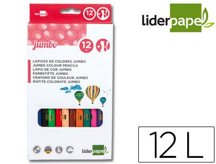 LÁPIS DE CORES JUMBO LIDERPAPEL CX C/12 CORES – 34249