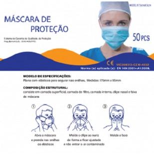 Mascara de Proteçao M002 BFE>95% 17,5×9,5cm