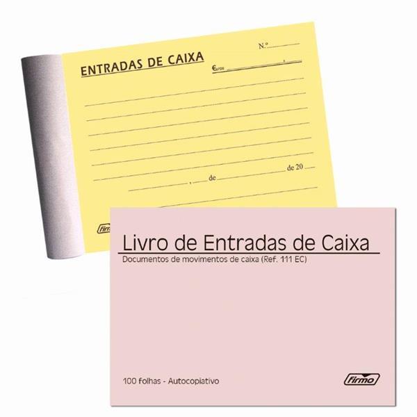 LIVRO ENTRADA DE CAIXA 100 FOLHAS