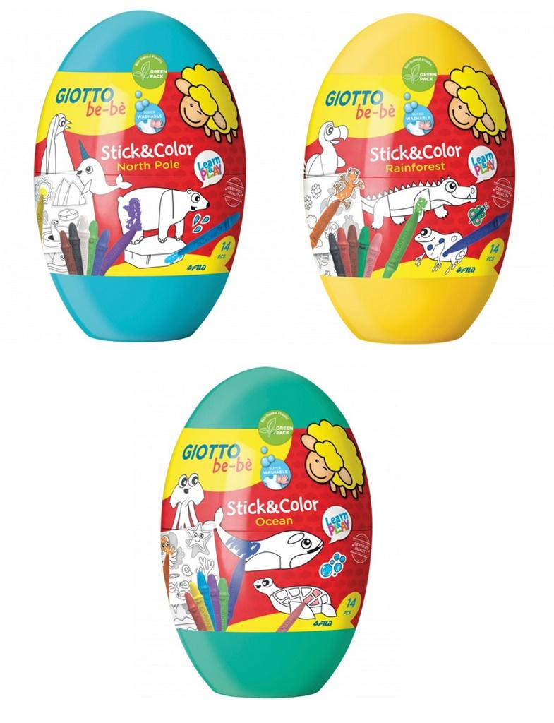 GIOTTO BE-BÉ STICK & COLOR EGG IN DISPLAY- F472700