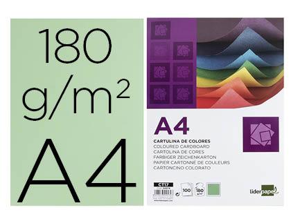 CARTOLINA A4/180GR.EMB. C/100FLS VERDE – 24574