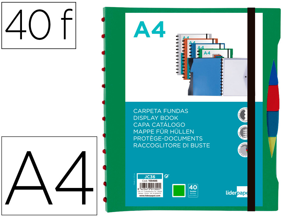 CATALOGO 40 BOLSAS EXTRAÍVEIS C/SEP. VERDE – 159485